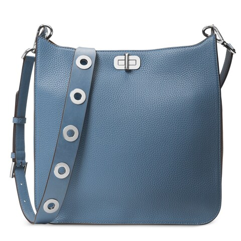Michael Kors Sullivan Large Denim Messenger Crossbody Handbag