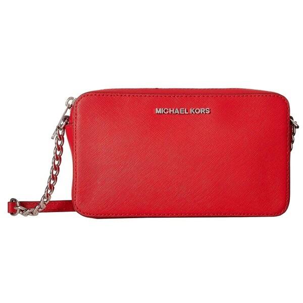 faf817703645 Michael Kors Jet Set Travel Large Bright Red East West Crossbody Handbag