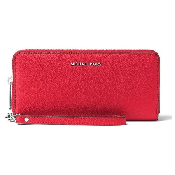 68fd212f3e0fbc Shop Michael Kors Mercer Travel Continental Bright Red Travel Wallet - Free  Shipping Today - Overstock - 15456257