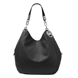Michael Kors Fulton Large Black Shoulder Handbag