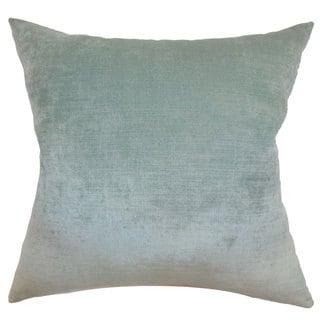"Haye Solid 24"" x 24"" Down Feather Throw Pillow Aqua"