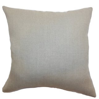 "Urania Plain 24"" x 24""  Feather Throw Pillow Tan"