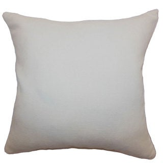 "Portia Solid 24"" x 24""  Feather Throw Pillow Creme"