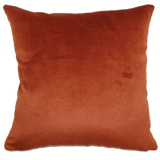 "Juno Solid 24"" x 24"" Down Feather Throw Pillow Rust"