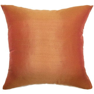 "Veristi Solid 24"" x 24"" Down Feather Throw Pillow Rust"