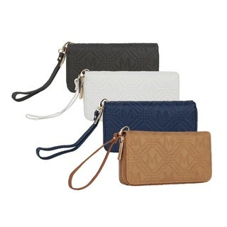MKF Collection Embossed M Signature Wallet by Mia K. Farrow