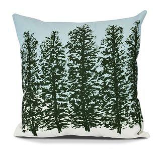 Hidden Forrest, Floral Print Outdoor Pillow