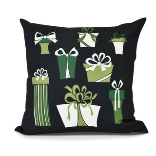 Present Time, Geometric Print Outdoor Pillow