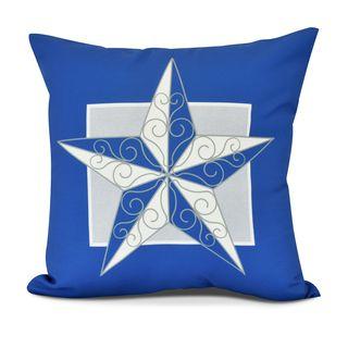 Night Star, Geometric Print Outdoor Pillow