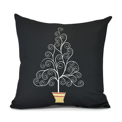 Filigree Tree, Geometric Print Outdoor Pillow