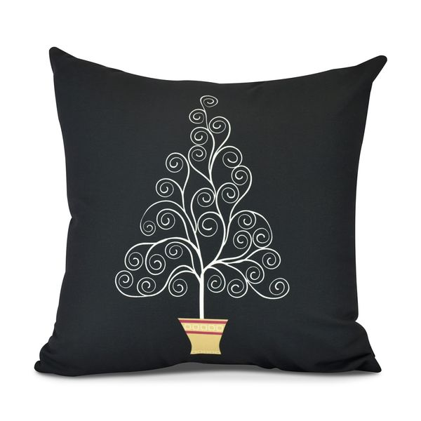 Filigree Tree, Geometric Print Outdoor Pillow