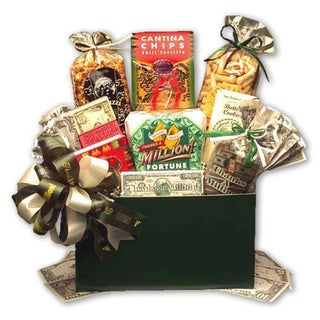 Thanks a Million'Gourmet Food Gift Basket with Hunter-green Box