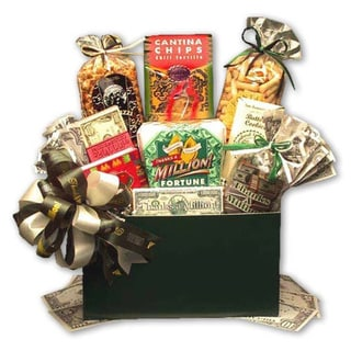 'Thanks a Million' Gourmet Food Gift Basket with Hunter-green Box