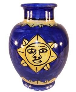 Engraved Sun Ceramic Vase (Morocco)