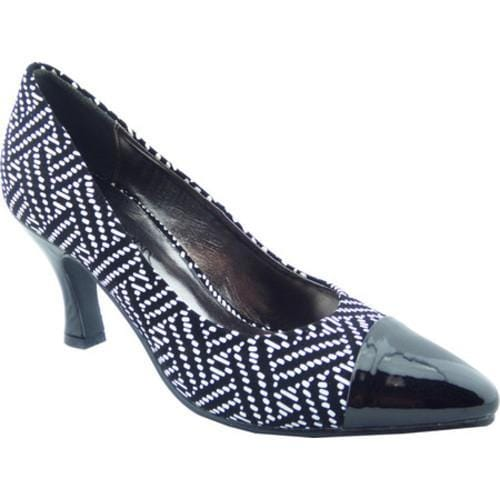 Shop Women s Bellini Zia Cap Toe Pump Black White Polyurethane - Free  Shipping Today - Overstock.com - 13931386