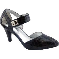 Women's Bellini Magic Two Piece Ankle Strap Black Croc Polyurethane