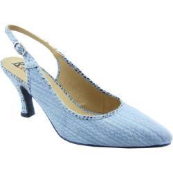 Women's Bellini Zelda Slingback Blue Reptile Polyurethane