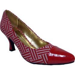 Women's Bellini Zia Cap Toe Pump Red/White Polyurethane