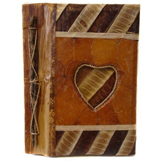 Handmade Waru Leaves Heart Photo Album (Indonesia)