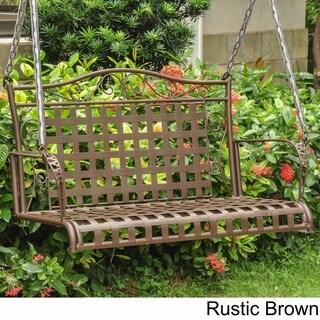 International Caravan Wrought Iron Patio Swing