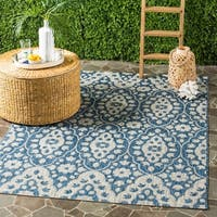 Martha Stewart by Safavieh Tulip Medallion Grey / Navy / Grey / Navy Area Rug (9' x 12')