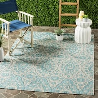 Martha Stewart by Safavieh Tulip Medallion / Grey / Blue Area Rug - 8' x 11'2