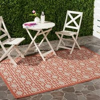 Martha Stewart by Safavieh Terracotta / Beige / Brown Area Rug - 6'7 x 9'6