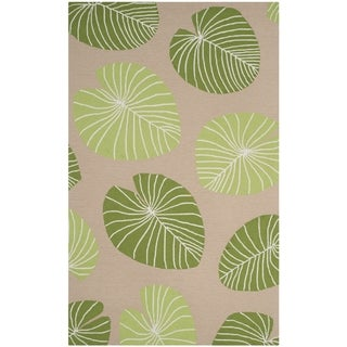 Martha Stewart by Safavieh Hand-hooked Lily Pad Rug (4 x 6 - Brown)