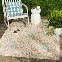 Martha Stewart by Safavieh Fairview Aqua / Beige / Blue Area Rug - 6'7 x 9'6
