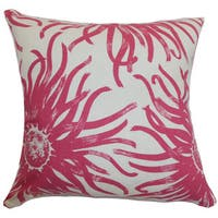 Ndele Floral 24-inch Down Feather Throw Pillow Rosewood