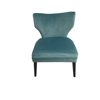 Briar Chair Pool Blue Mistral Velvet