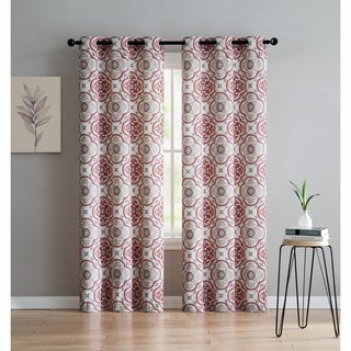 VCNY Home Winstead Printed Blackout Curtain Panel Pair