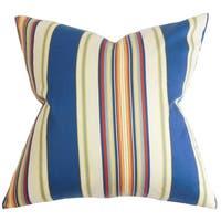 """Douce Stripes 24"""" x 24""""  Feather Throw Pillow Multi"""
