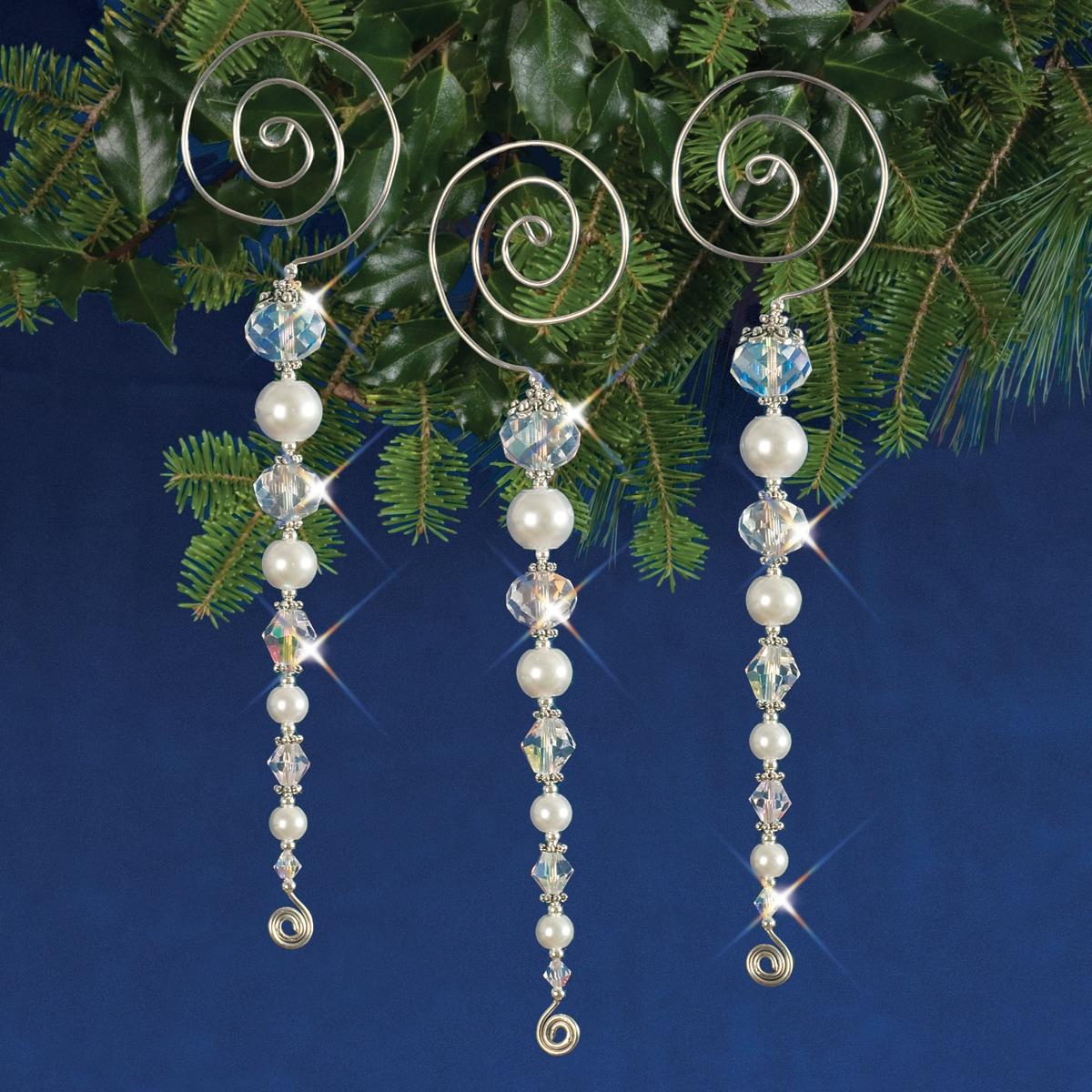 Solid Oak Holiday Beaded Ornament Kit-Vintage Icicles Mak...