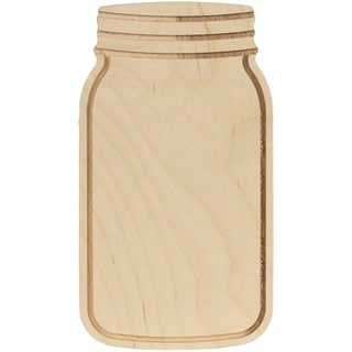"Baltic Birch Mason Jar Shape-5""X9""X.35"""