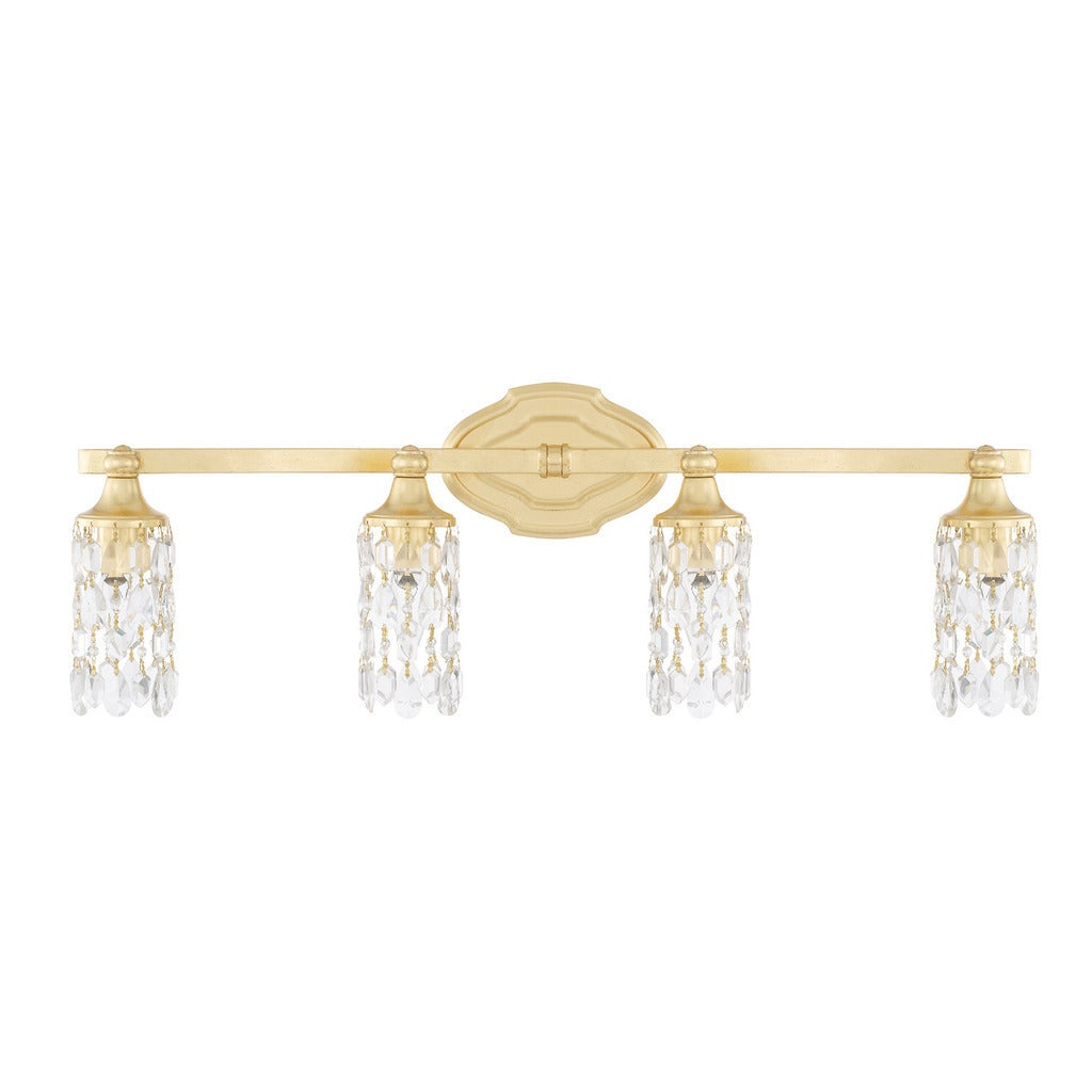 Capital Lighting Blakely Collection 4-light Capital Gold Bath/Vanity Light