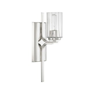 Capital Lighting Manhattan Collection 1-light Polished Nickel Wall Sconce