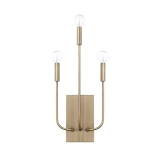 Capital Lighting Zander Collection 3-light Aged Brass Wall Sconce