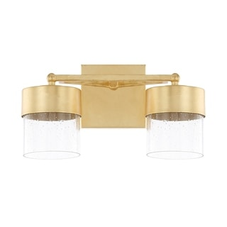 Capital Lighting Donny Osmond Regan Collection 2 Light Capital Gold LED  Bath/Vanity Light