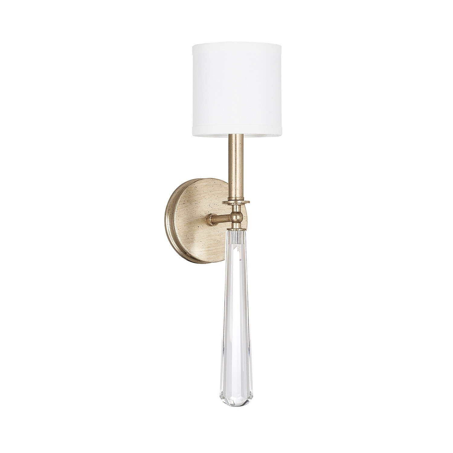 Image of: Shop Mercer 1 Light Winter Gold Crystal Wall Sconce Overstock 15613325