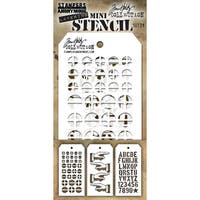 Tim Holtz Mini Layered Stencil Set 3/Pkg-Set #29