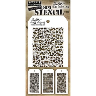 Tim Holtz Mini Layered Stencil Set 3/Pkg-Set #28