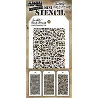Tim Holtz Mini Layered Stencil Set 3/Pkg-Set #28