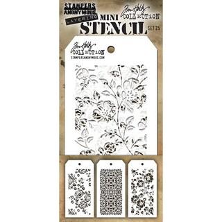 Tim Holtz Mini Layered Stencil Set 3/Pkg-Set #25