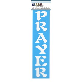 "Clear Scraps Border Stencils 3""X12""-Prayer"