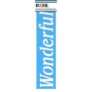 "Clear Scraps Border Stencils 3""X12""-Wonderful"