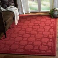 Martha Stewart by Safavieh Resort Weave Sealing Wax / Red Wool Area Rug - 4' x 6'