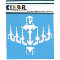 """Clear Scraps Stencils 6""""X6""""-Chandelier"""