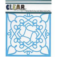 "Clear Scraps Stencils 6""X6""-Doodling"