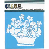 "Clear Scraps Stencils 6""X6""-Mixed Basket"
